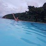 Last dip in the infinity pool before leaving.