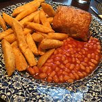 Handmade Cumberland Sausage Roll, with Chips/Beans