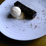 Chocolate orange pave with yuzu icecream.