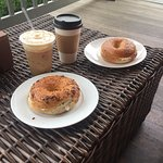 Delicious bagels and coffee!