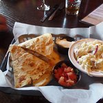Chichen quesadilla and coleslaw