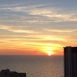 We love the October / Fall sunsets. These pictures were taken from the balcony of Unit 1806 at L