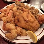 Seafood platter my standby anywhere. Fried shrimp, flounder, oysters, crabcake and hushpuppy