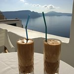 Our requested frappes with a view that can't be beat.