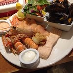Superb seafood platter