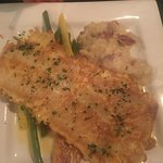 This was the Flounder I ordered for dinner. I wasn't a fan of fish before but I am after this me