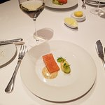 Course 3 - slow cooked fillet of wild sea trout