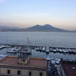 View of Vesuvius from Room at Sunset