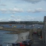 The view over the harbour from our bedroom window, similar available from the hotel lounge.