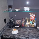 kitchenette with pod type cappuccino maker