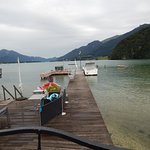 The private dock provided by the Strobler Hof on the Wolfgansee.