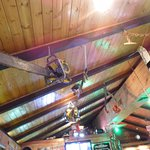 Decor reflects the local economy - really cool, HUGE old chainsaws hanging from the ceiling