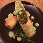 Courgette spring roll - lovely