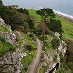 The gardens from the castle, with views over to Marazion
