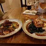 Lamb and haggis  (left) pork (right), absolutely incredible.