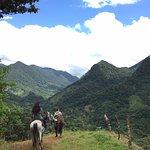 Horse back riding through the national park!