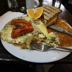 Rustic Flat Omelette, one of the best breakfasts I've had anywhere!