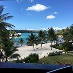 View from verandah restaurant during breakfast - best way to eat breakfast!