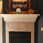 Beautiful fireplace in the Columbine Room.