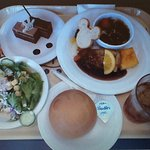 シチューのオプション + サラダ/デザートの選択