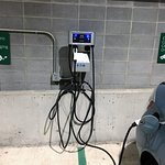 Electric Vehicle charging stations in public garage 84.15 across the street from the Hiatt (8 sp