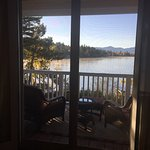 Beautiful grounds and stunning views from Lake Placid Mirror Lake Inn  Colonial House... Room 7c