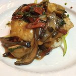 Pan Seared Chicken with Portobello Mushrooms in a Sherry Sauce with Mixed Veggies over Mashed Po