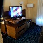 tv across bed
