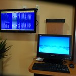 airport information in lobby area