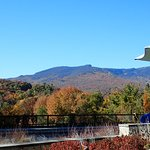 View of Mount Mansfield from our table