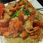 lobster with crispy noodles