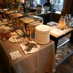 Buffet---Hot food table