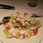 1st course of meal - wedge salad; dessert was chocolate cake with ice cream (no pic)