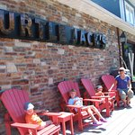 Muskoka chairs to wait outside