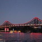 Story bridge at dusk