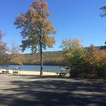 Beach area. Mauch Chunk Lake. Mid-October 2016.