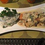 Salmon with mashed potato