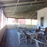 Room opened up onto spacious verandah with views over the town.