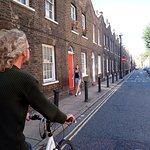 Cycling Along Roupell Street Houses