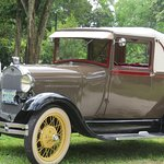 Model A Ford with rumble seat.