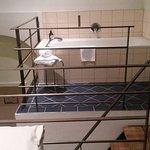 bathtube on the upper level