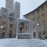 San Gimignano with snow in february