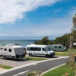 Our Maui camper on it's pitch - what a beautiful view!!