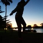 play at sunset