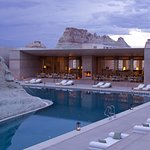 Amangiri Pavilion and Swimming Pool at Dusk