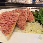 sandwich with beef tartare