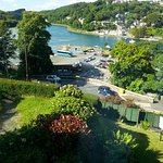 Our room had this excellent view ..just beautiful ..Looe Harbour was to the left of us