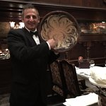 This is our waiter, Peter Tzanis. He was fun, friendly and knowledgeable. A memorable meal!