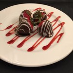Complementary chocolate covered strawberries
