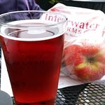 This deep red hard cider is super tart and not artificial tasting.